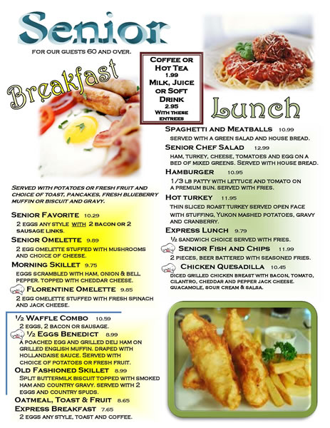 Senior Breakfast & Lunch Menu